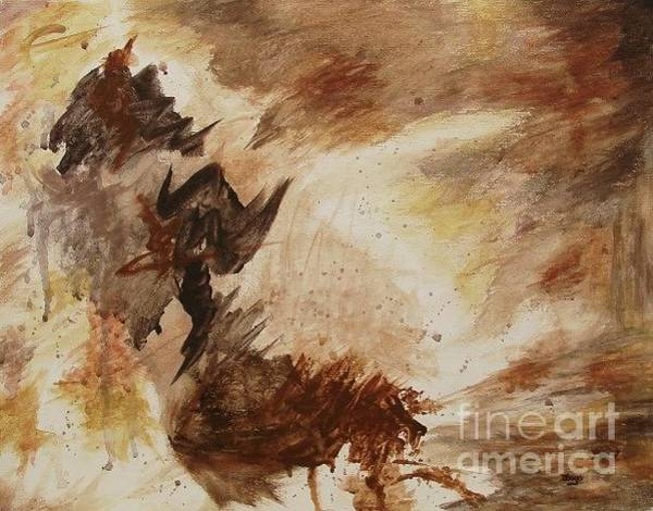 Primal Painting - Random Thoughts - Original Contemporary Modern Abstract by Itaya Lightbourne