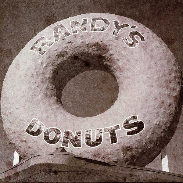 Wall Art - Photograph - Randy's Donuts - Vintage by Stephen Stookey