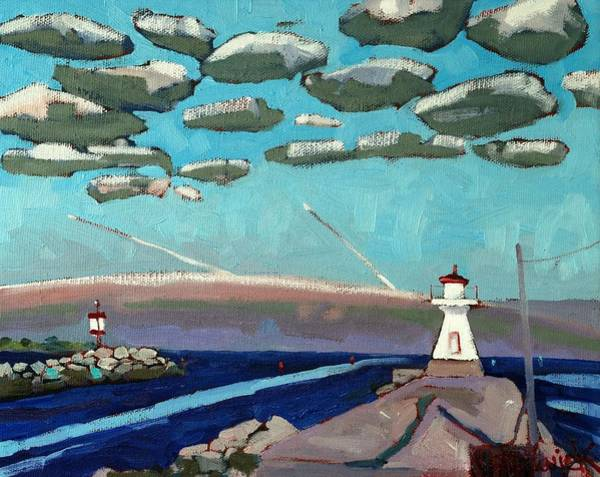Stratocumulus Painting - Range Light Dawn by Phil Chadwick