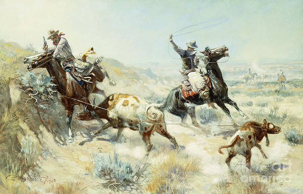 Historical Figure Painting - Range Mother by Charles Marion Russell