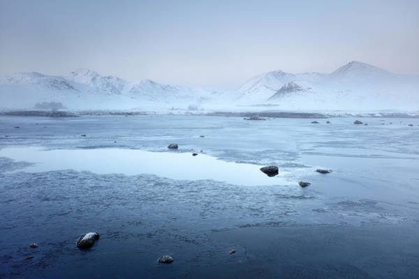 Photograph - Rannoch Moor Winter Misty Mountain by Grant Glendinning