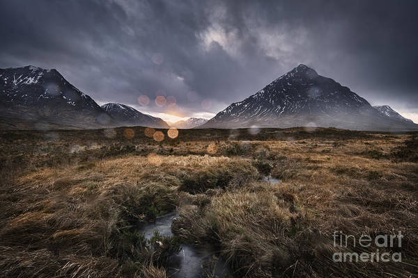 Glencoe Photograph - Rannoch Rain by Rod McLean