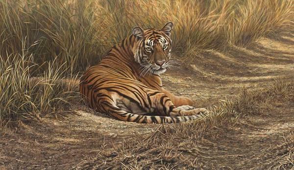 Painting - Ranthambore Roadblock by Alan M Hunt