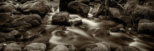 Wall Art - Photograph - Roaring Fork Cascade - Sepia by Stephen Stookey