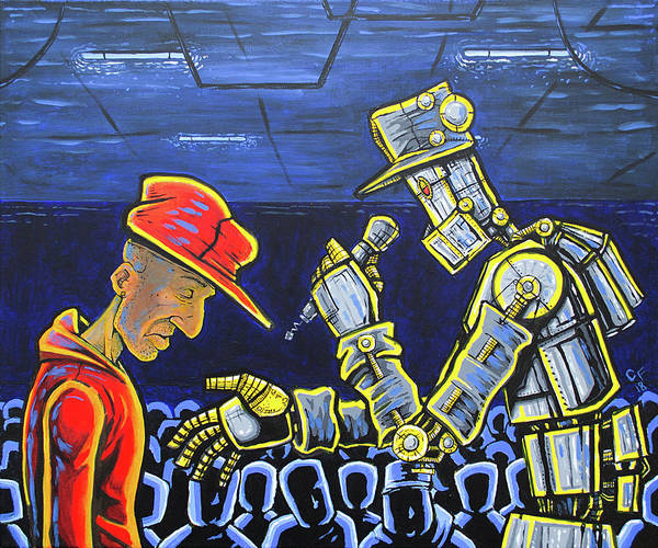Wall Art - Painting - Rap Bot by Chase Fleischman