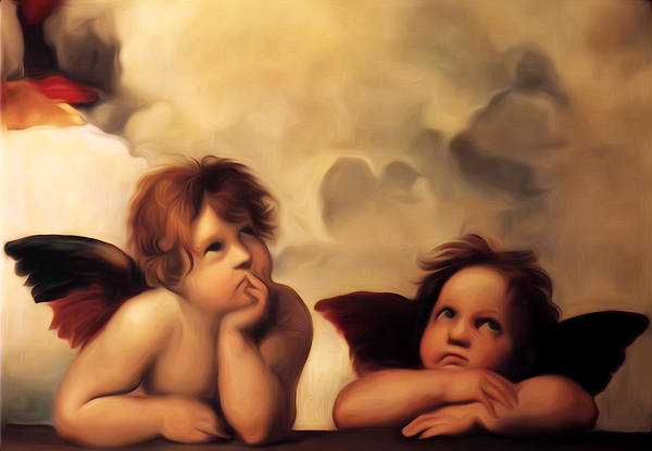 Digital Art - Raphael's Cherubs by Bill Cannon