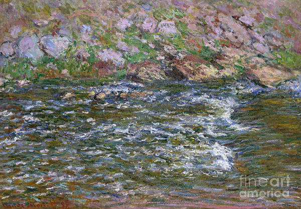 Wall Art - Painting - Rapids On The Petite Creuse At Fresselines, 1889 by Claude Monet
