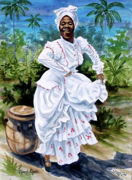 African Dance Painting - Raquel  by Samuel Lind