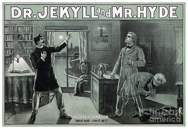 Wall Art - Painting - Rare Dr. Jekyll And Mr. Hyde Transformation Poster by Vintage Treasure