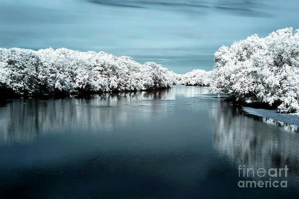 Photograph - Raritan River Blue Infrared by John Rizzuto