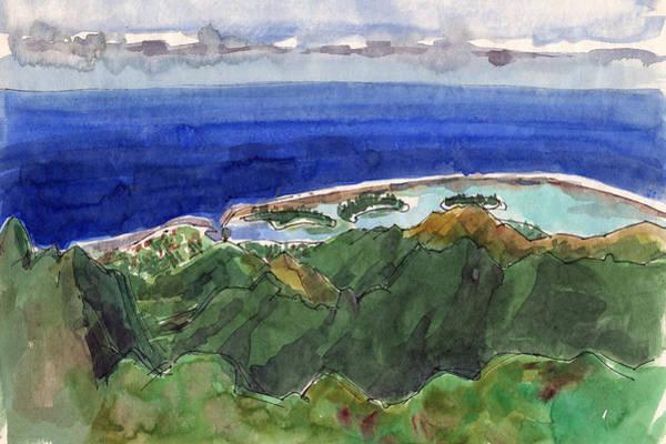 Rarotonga, View From Te Manga Art Print