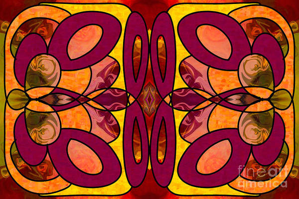 Digital Art - Raspberries And Peaches Abstract Art By Omashte by Omaste Witkowski