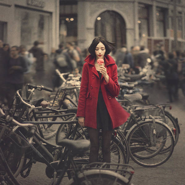 Bike Wall Art - Photograph - raspberry sorbet in Amsterdam by Anka Zhuravleva