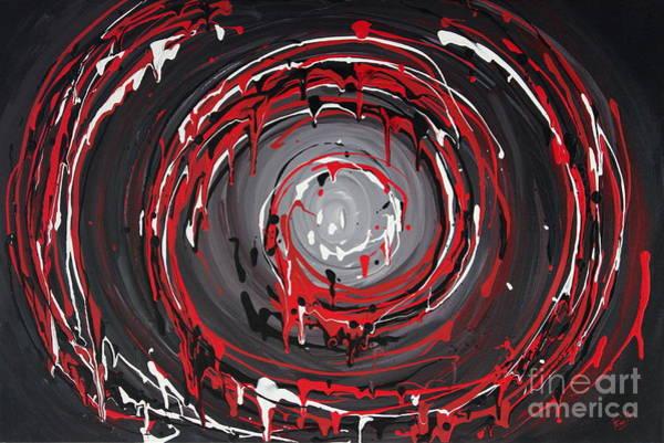 Raspberry Swirls Art Print