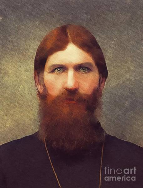 Monk Painting - Rasputin by Mary Bassett