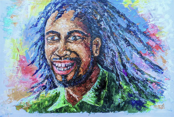 Rasta Painting - Rasta Man by Anthony Mwangi