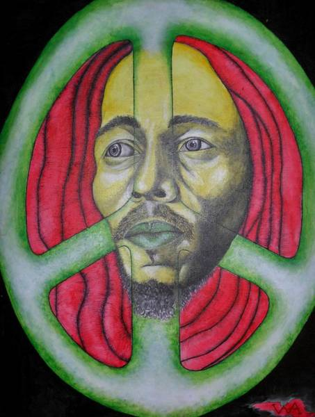 The Wailers Painting - Rasta Man - Bob Marley by Wes Aden