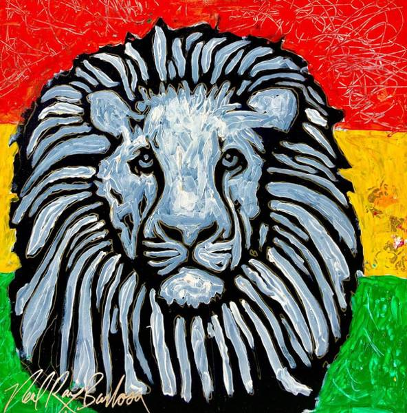 Painting - Rastafari Lion by Neal Barbosa