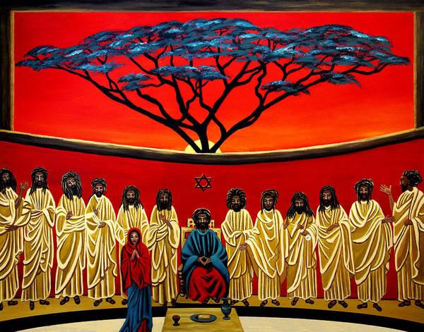 Rasta Painting - Rastafarian Last Supper by EJ Lefavour