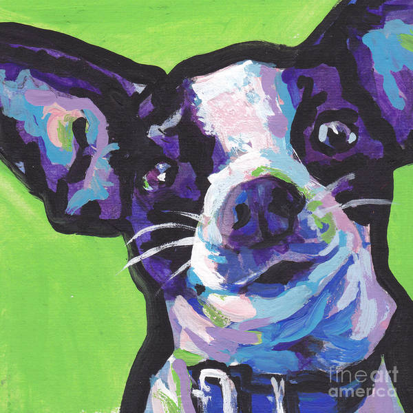 Chihuahua Painting - Rat Chi Baby by Lea S