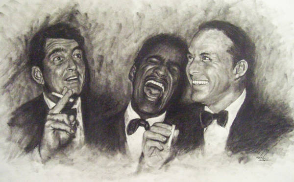 Hotel Drawing - Rat Pack by Cynthia Campbell