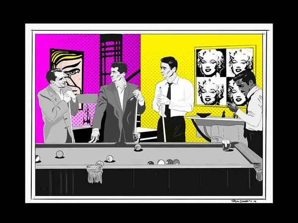 Dean Martin Digital Art - Rat Pack Featuring Andy Warhol by Ronnie Thomas