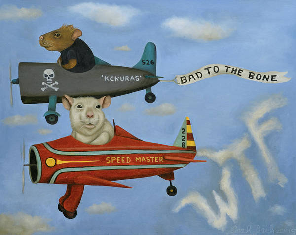 Painting - Rat Race 5 by Leah Saulnier The Painting Maniac