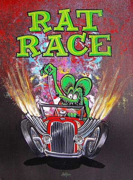Painting - Rat Race by Alan Johnson