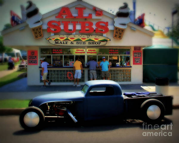 Street Rods Photograph - Rat Rod At Al's by Perry Webster