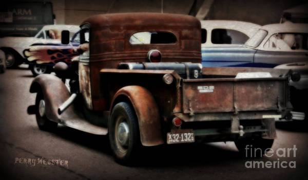 Street Rods Photograph - Rat Rod Work Truck by Perry Webster
