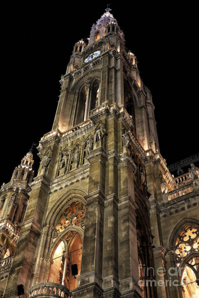 Photograph - Rathaus Tower by John Rizzuto