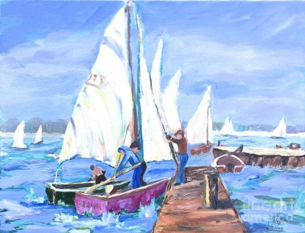 Painting - Rather Be Sailing by Patsy Walton