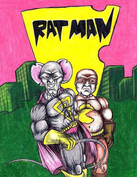 Drawing - Ratman Shirt by Michael  TMAD Finney