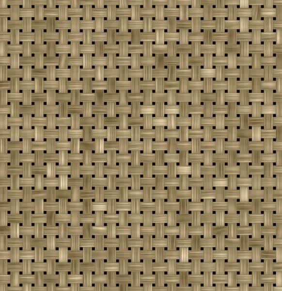 Wicker Basket Digital Art - Rattan Pattern by Hamik ArtS