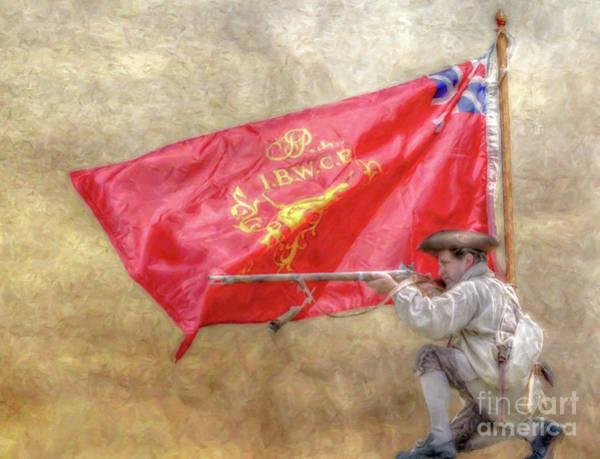 Musket Digital Art - Rattlesnake Flag Of The Ibwcp  by Randy Steele