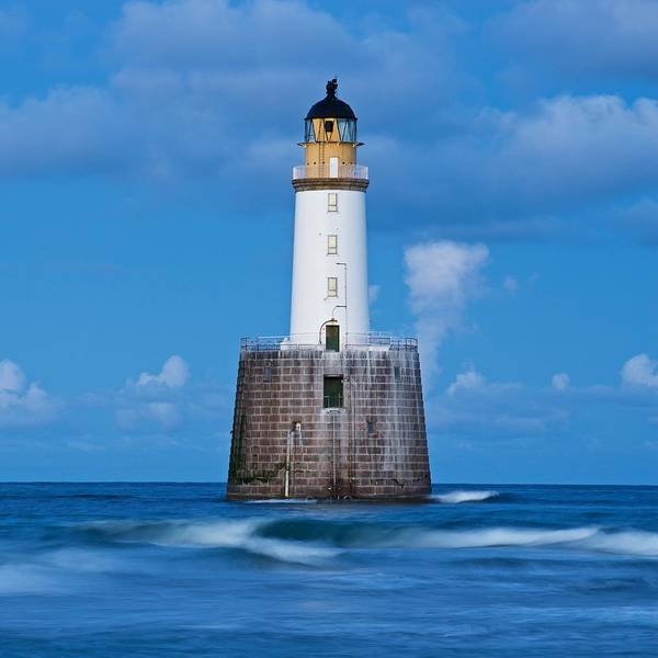 Photograph - Rattray Head Light House Waves by Stephen Taylor