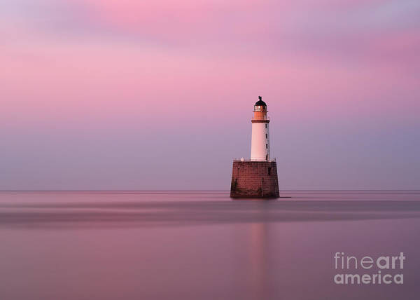 Photograph - Rattray Head Lighthouse At Sunset - Pink Sunset by Maria Gaellman