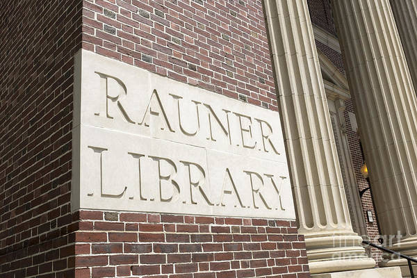 Photograph - Rauner Library Dartmouth College by Edward Fielding