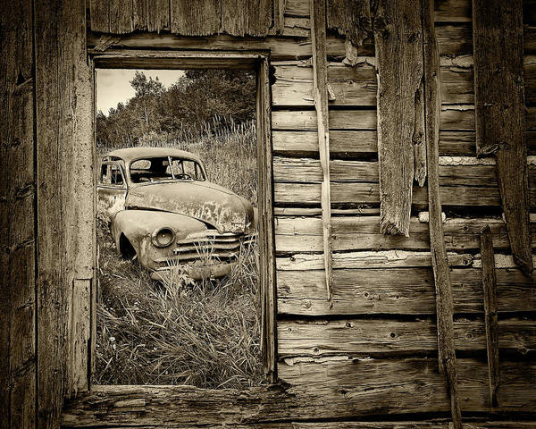 Photograph - Ravages Of Time In Sepia Tone by Randall Nyhof