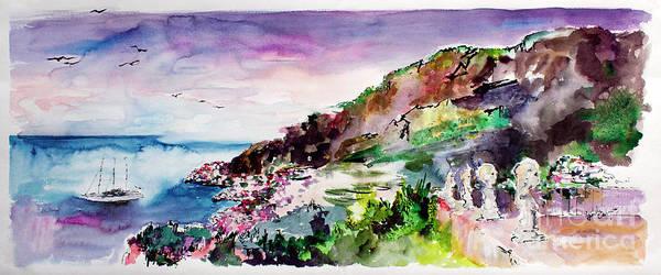 Painting - Ravello Villa Cimbrone Amalfi Coast by Ginette Callaway