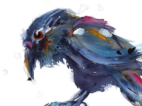 Painting - Raven 2 by Dawn Derman