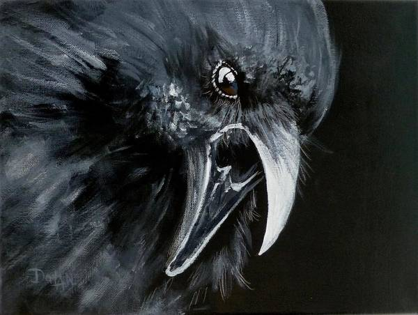 Painting - Raven Caw by Pat Dolan