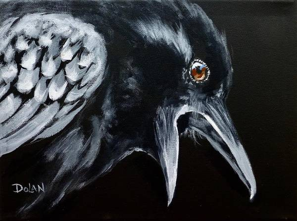 Painting - Raven Complaining by Pat Dolan