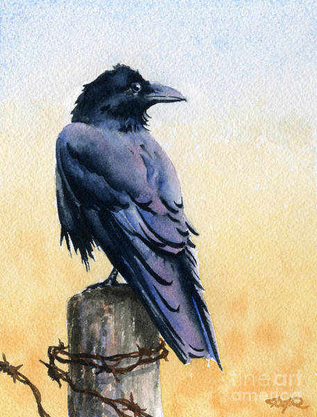 Avian Wall Art - Painting - Raven by David Rogers