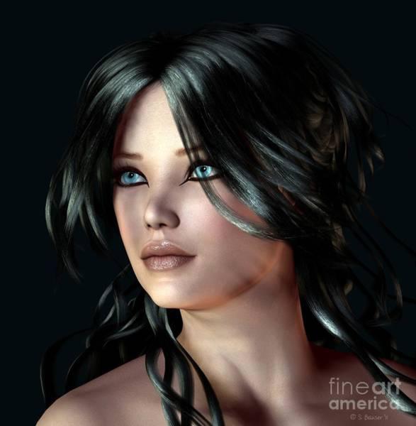 Digital Art - Raven-haired by Sandra Bauser Digital Art