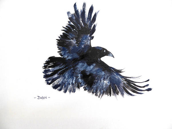 Painting - Raven In Flight by Pat Dolan