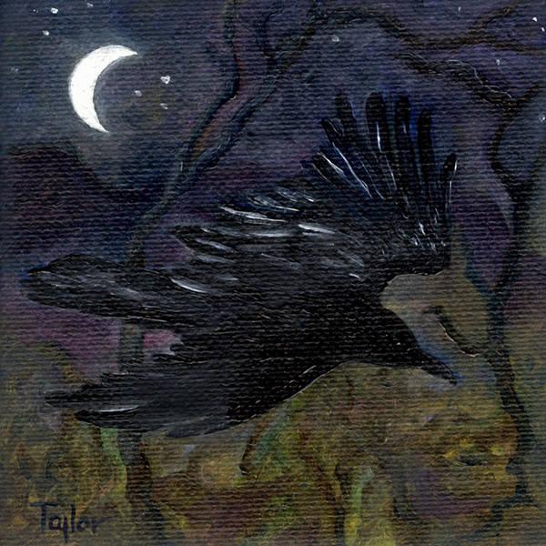 Raven In Stars Art Print