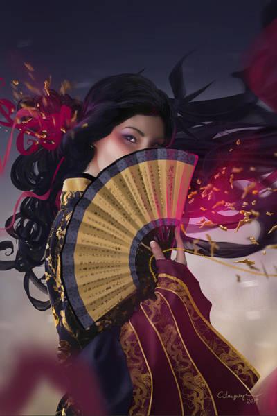 Raven Digital Art - Raven - Portrait by Cassiopeia Art