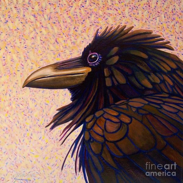 Wall Art - Painting - Raven Shaman by Brian  Commerford