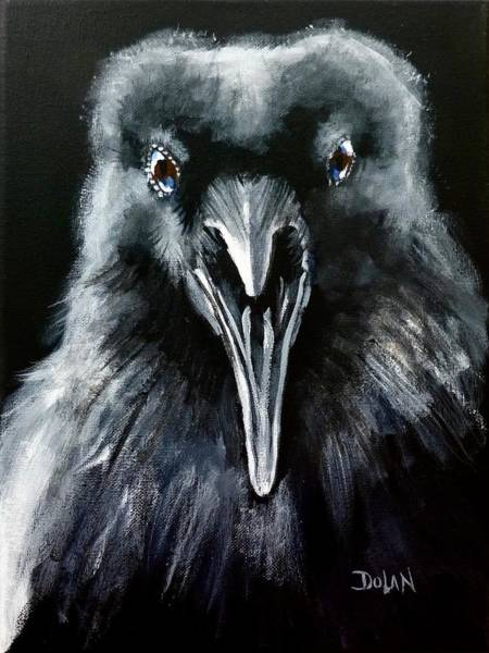 Painting - Raven Squawk by Pat Dolan
